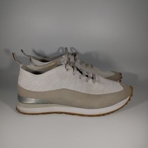 Greats gray knit lace up sneaker shoes size 8.5